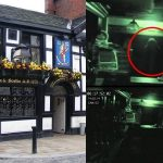 Hooded figure Ghost stops by for a spirit (video)