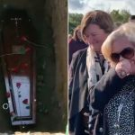 Footage shows funeral disrupted by dead man 'knocking' from inside coffin